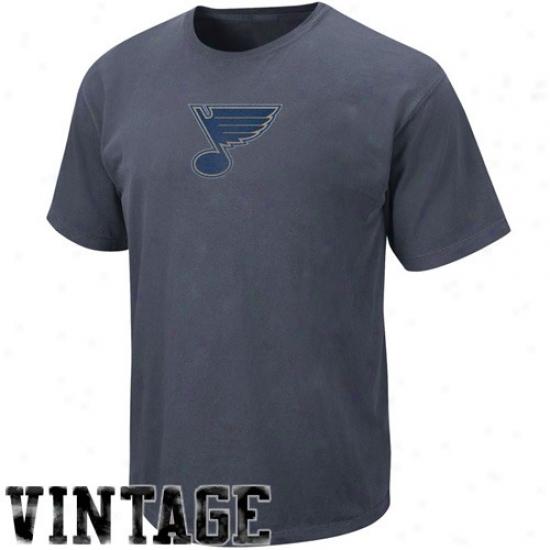 St Louis Blues Shirts : Majestic St Louis Blues Navy Melancholy Big Time Play Vintage Shirtq