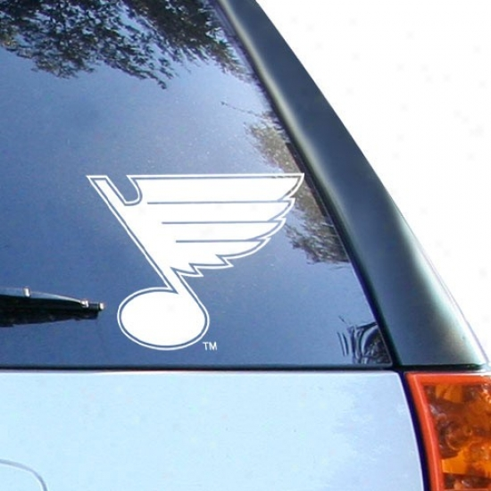 St. Louis Blues Of a ~ color 8'' X 8'' Logo Decal