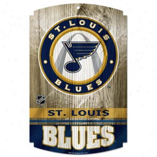 St. Louis Blues Wood Sign