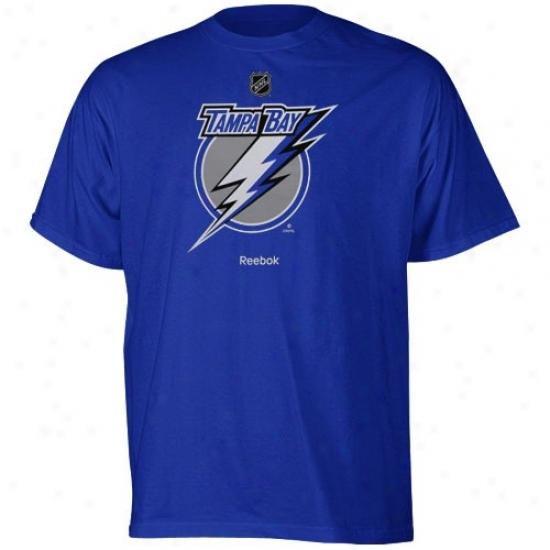 Tampa Bay Lightning Apparel: Reebok Tampa Bay Lightning Youht Royal Blue Pimary Logo T-shirt