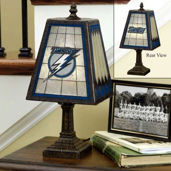 Tampa Bay Lightning Art-lgass Table Lamp