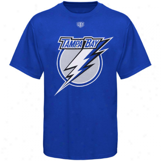 Tampa Bay Lightning Attire: Old Time Hockey Tampa Bay Lightning Royal Blue Big Logo T-shirt