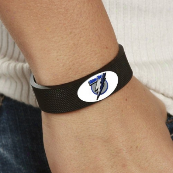 Tampaa Recess  Lightning Black Hockey Bracelet