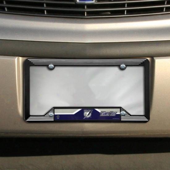 Tampa Bay Lightning Black Plastic License Plate Frame