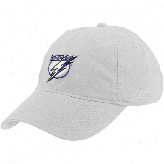 Tampa Bay Lightning Cqp : Reebok Tampa Bay Lightning White Basic Logo Cap