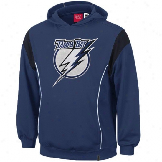 Tampa Bay Lightning Fleece : Reebok Tampa Bay Lightning Navy Azure Showboat Fleece