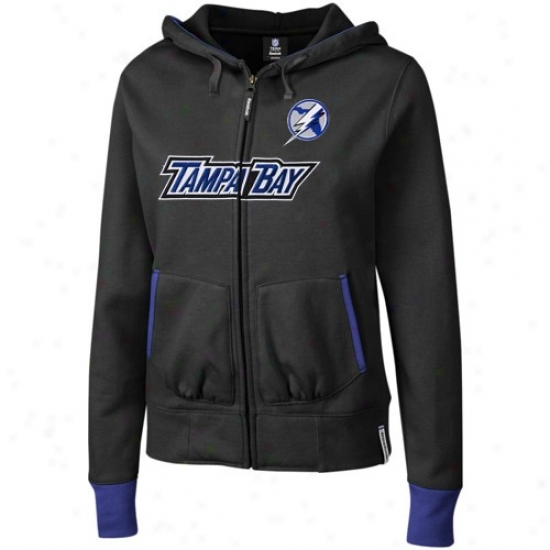 Tampa Bay Lightning Fleece : Reebok Tampa Bay Lightning Ladies Black Chant Full Zip Cover fleecily