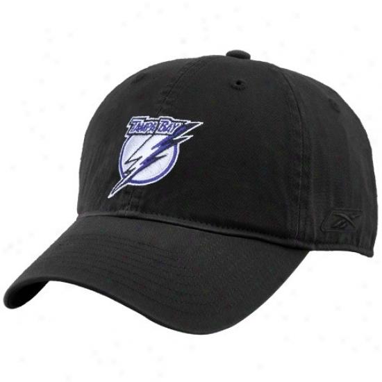 Tampa Bay Lightning Hat : Reebok Tampa Bay Lightning Black Unstructured Slouch Hat