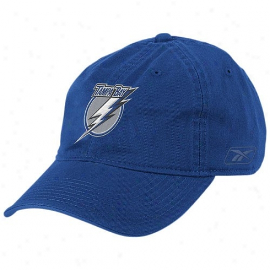 Tampa Bay Lightning Hats : Reebok Tampa Bay Lightning Royal Blue Basic Logo Slouch Hats