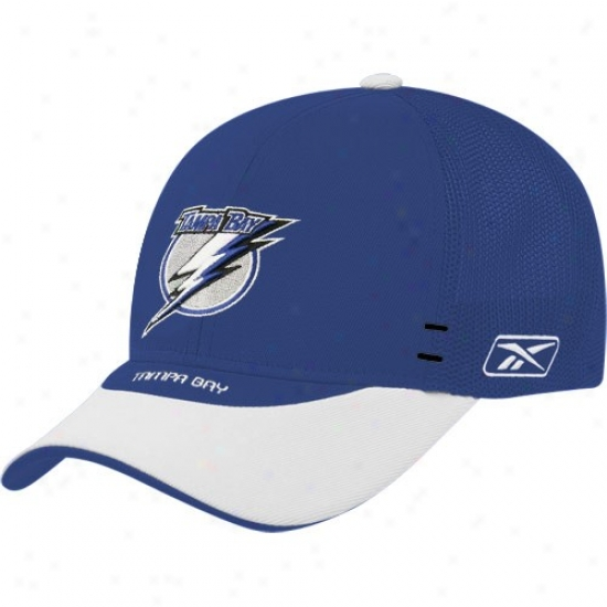 Tampa Bay Lightning Hats : Reebok Tampa Bay Lightning Royal Blue Nhl Draft Day 1-fit Flex Fit Hats