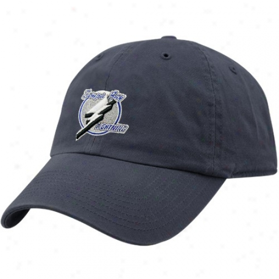 Tampa Bay Lightning Hats : Twins Enterpdise Tampa Bay Lightning Navy Azure Hockey Franchise Fitted Hats