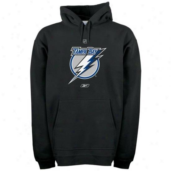 Tampa Bay Lightning Hoodie : Reebok Tamap Bay Lightning Black Elementary Logo Hoodie