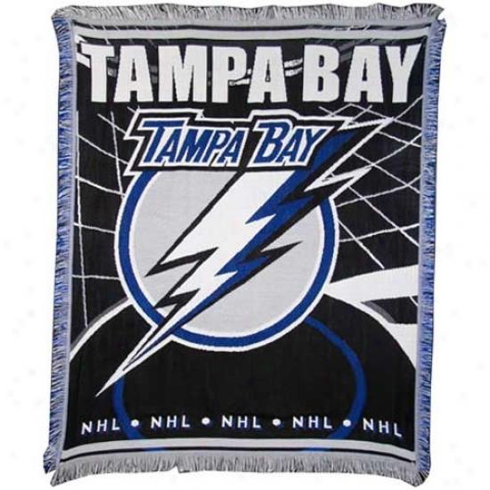 Tampa Bay Lightning Jacquard Woven Blanket Thorw