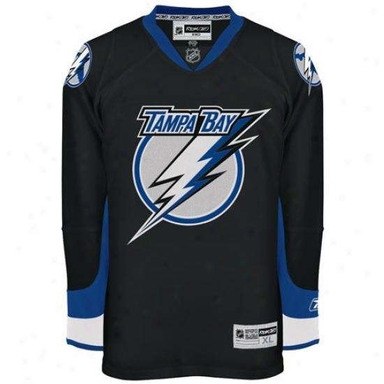Tampa Bay Lightning Jerseys : Reebok Tampa Bay Lightning Black Premier Hockey Jerseys