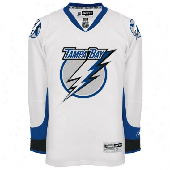 Tampa Bay Lightning Jerseys : Reebok Tampa Bay Lightning White Premier Hockey Jerseys