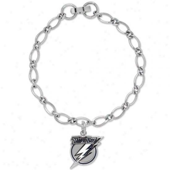 Tampa Bay Lightning Ladies Silver-tone Charm Bracelet