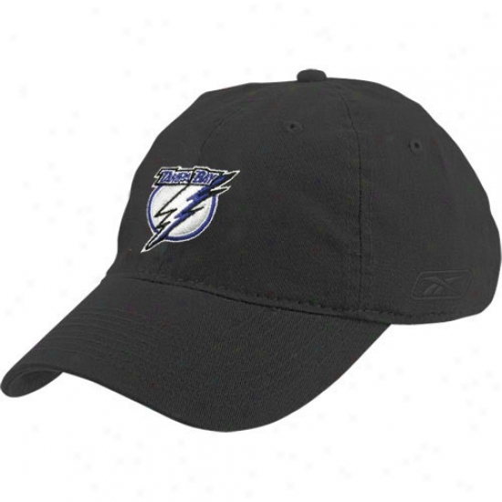 Tampa Bay Lightning Merchandise: Reebok Tampa Bay Lightning Black Ladies Slouch Hat