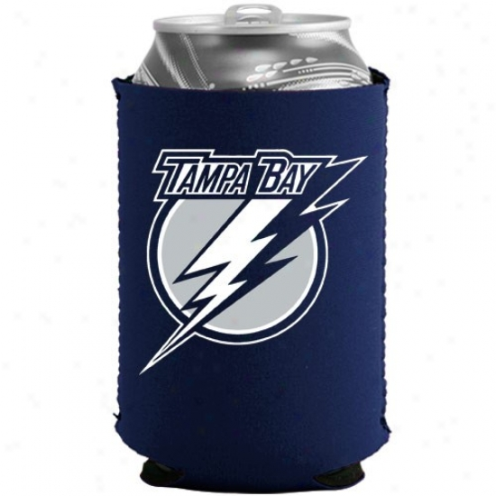 Tampa Bay Lightning Navy Blue Collapsible Can Coolie