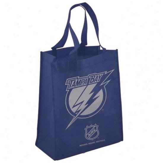 Tampa Bay Lightninb Navy Blue Reusable Tote Bag