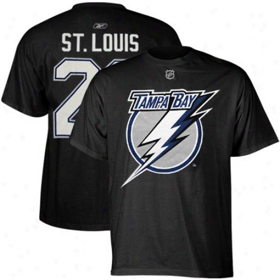 Tampa Bay Lightning Shirts : Reebok Tampa Bay Lightning #26 Martin St. Louis Black Player Shirts