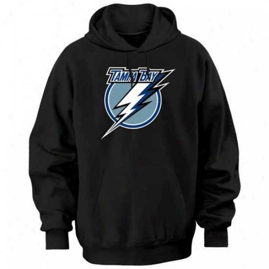 Tampa Bay-tree Lightning Swat Shirts : aMjestic Tampa Bay Lightning Black Felt Tek Patch Sweat Shirts