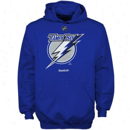 Tampa Bay Lightning Sweatsnirt : Reebok Tampa Bay Lightning Youth Kingly Blue Primary Logo Sweatshirt