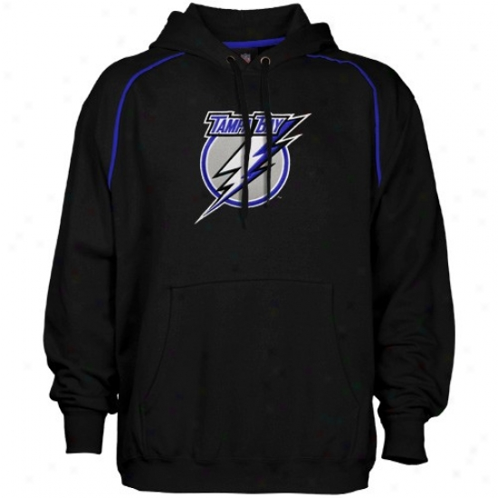 Tampa Bight Lightning Sweatshirts : Majestic Tampa Bay Lightning Black Fear & Trembling Sweatshirts