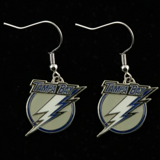 Tampa Bay Lightning Team Logo Dangle Earrings
