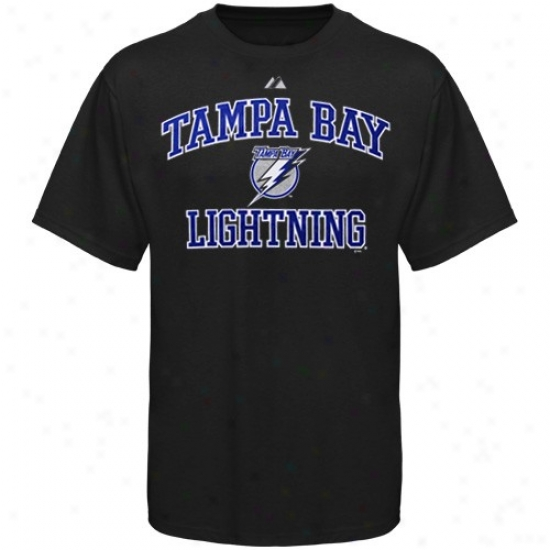 Tampa Bay Lightning Tshirt : Majestic Tampa Bay Lightning Youth Black Heart & Soul Ii Tshirt
