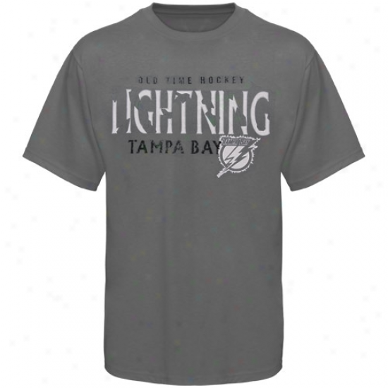 Tampa Bay Lightning Tshirts : Old Time Hockey Tampa Bay Lightning Charcoal St. Croix Tshirts