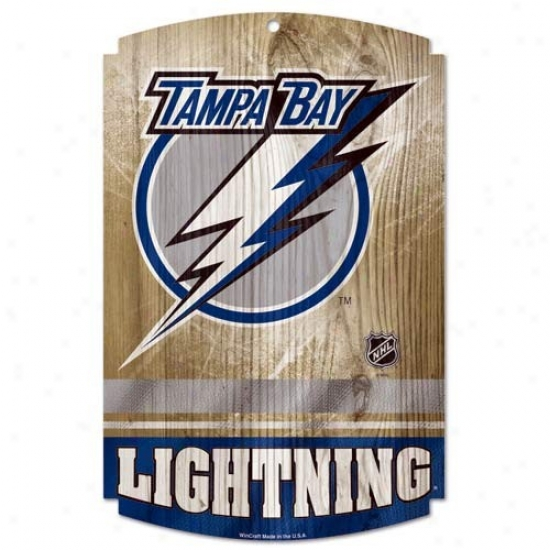 Tampa BayL ightning Wood Sign