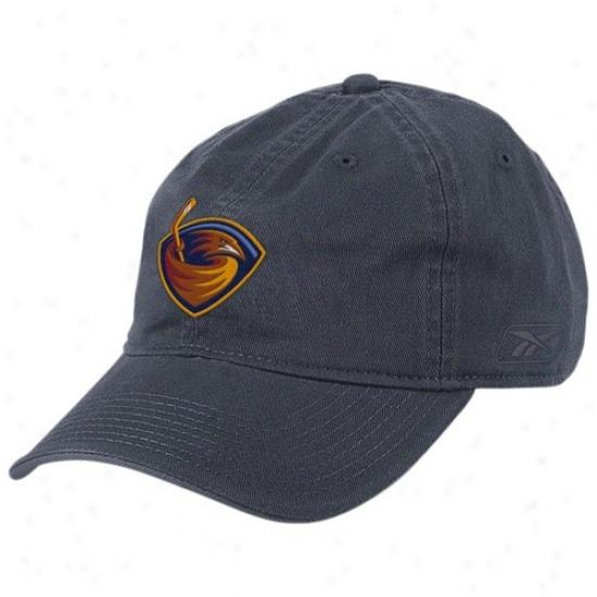 Thrashers Cap : Reebok Thrashers Navy Blue Basic Logo Slouch Cap