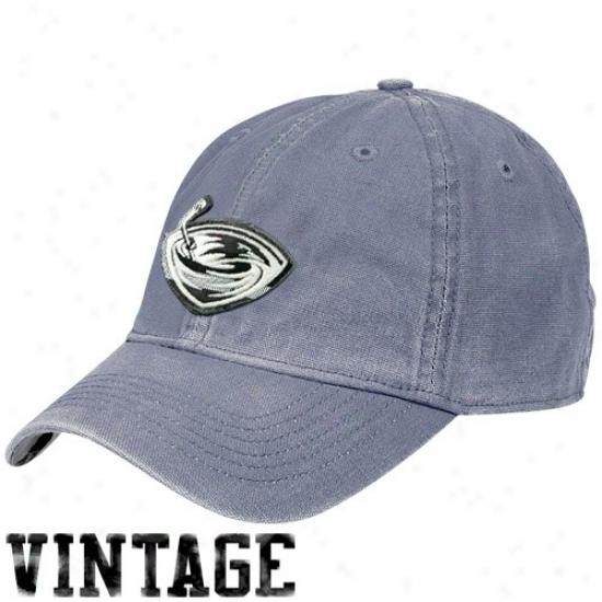Thrashers Gear: Reebok Thrashers Navy Blue Distresseed Logo Vintage Slouch Hat