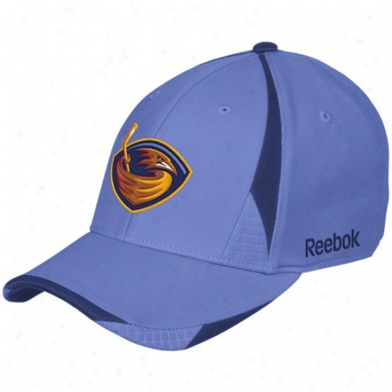 Thrashers Hat : Reebok Thrashers Bright Blue Player 2nd Season Flex Fit Hat