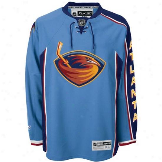 Thrashers Jerseys : Reebok Thrashers Light Blue Premier Hockey Jerseys