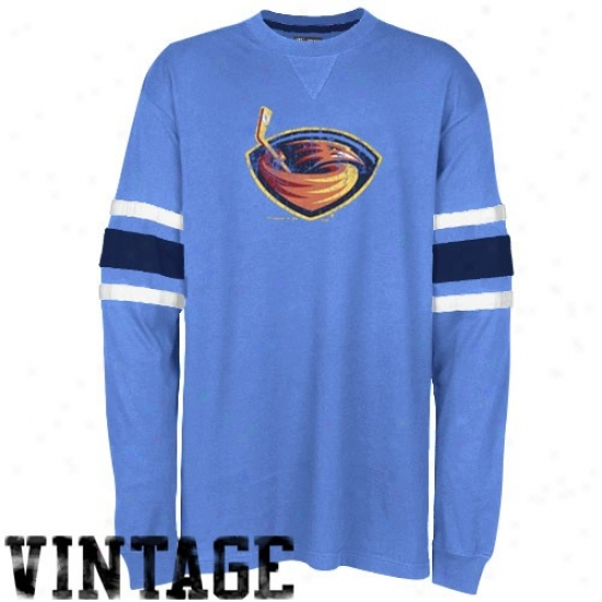Thrashers Shirts : Majestic Thrashers Light Blue End Of The Line Long Sleeve Vintage Premium Shirts