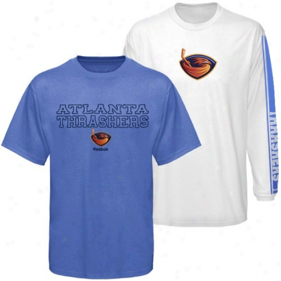 Thrashers Shirts : Reebok Thrashers Easy  Blue-white 3-in-1 Shirts Combo Pack