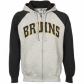 Boston Bruin Sweatshirt : Majetsic Bos5on Bruin Ash-black Slap Shot Full Zip Sweatshirrt
