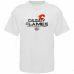 Calgary Flames Apparel: Old Time Hockey Calgary Flames White Zeno T-shirt
