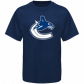Canucks T-shirt : Old Time Hockey Canucks Navy Blue Biv Logo T-shirt