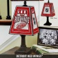 Detroit Red Wings Art-glass Table Lamp