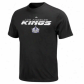 L A Kings T-shirt : Majestic L A Kigs Ykuth Black Attack Zone T-shirt