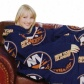 New York Islanders Royal Livid Team Log Print Unisex Comfy Throw