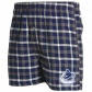 Vancouver Canucks Nwvy Blue Plaid Tailgate Boxer Shorts