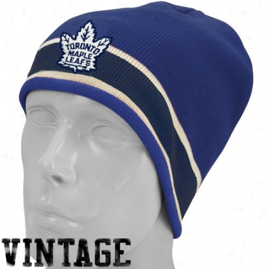 Toronto Maple Leaf Hat : Reebok Toronto Maple Leaf Navy Blue Vintage Join Beanie