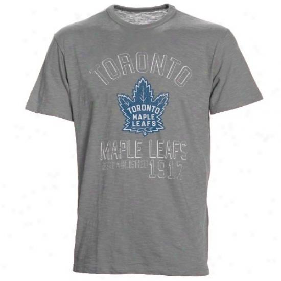 Toronto Maple Leaf Tshirt : Banner '47 Toronto Maple Leaf Ash Baseline Vintage Tshirt