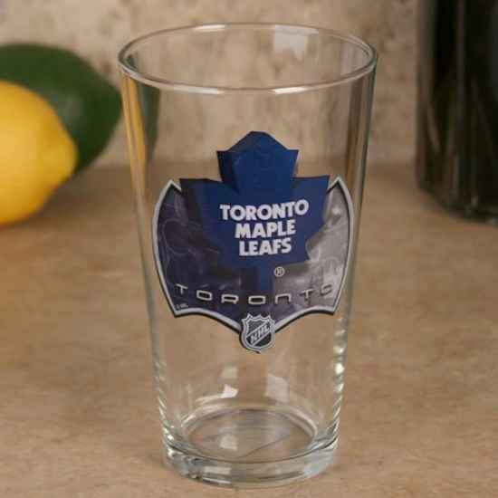 Toronto Maple Leafs 17 Oz. Enhanced High Definition Mixing Glass