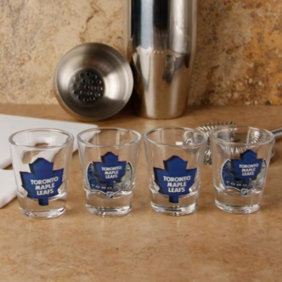 Toronto Maple Leafs 4-pack Enhanced High Definttion Design Shot Glass Set