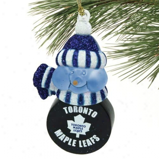 Toronto Maple Leafs All-star Light-up Snowman Ornament