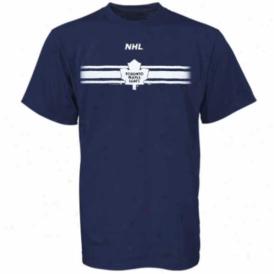 Toronto Maple Leafs Apparel: Majestic Toronto Maple Leafs Navy Blue Earned Victory T-shirt